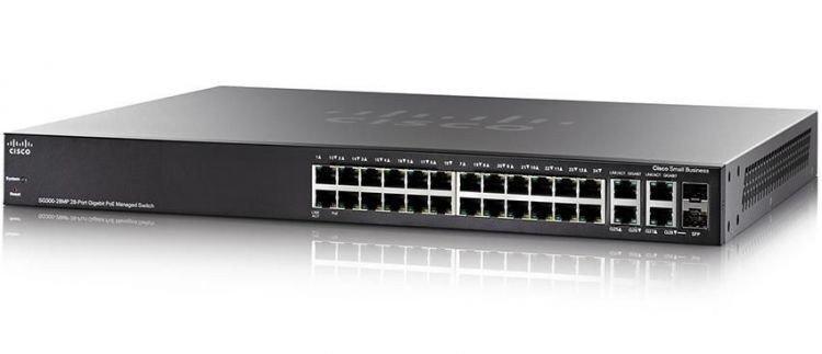 Коммутатор Cisco SG350-28MP (SG350-28MP-K9-EU)