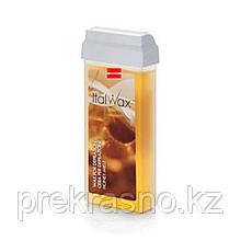 Воск для депиляции ITALWAX теплый 100мл Honey Мед в картридже, Италия