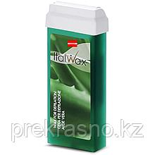 Воск для депиляции ITALWAX теплый 100мл Aloe Алоэ в картридже, Италия