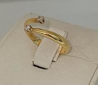 Золотое кольцо с бриллиантом / жёлтое золото - 18 размер