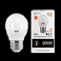 53238   Gauss лампа LED Elemrntary Globe 8W E27 6500K