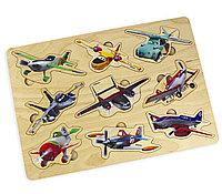 Деревянные пазлы для детей «Самолеты» по лицензии «Уолт Дисней»