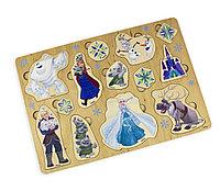 Деревянные пазлы для детей «Холодное сердце» по лицензии «Уолт Дисней»