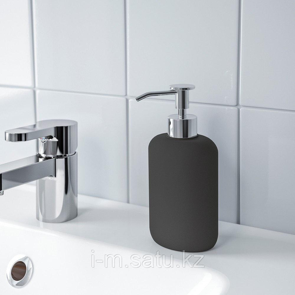 ЭКОЛЬН Дозатор для жидкого мыла, темно-серый