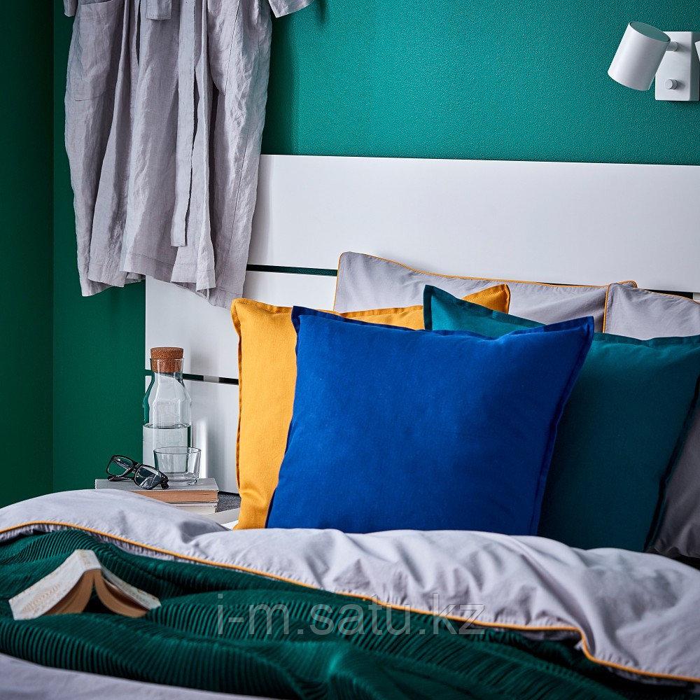 ГУРЛИ Чехол на подушку, темно-синий