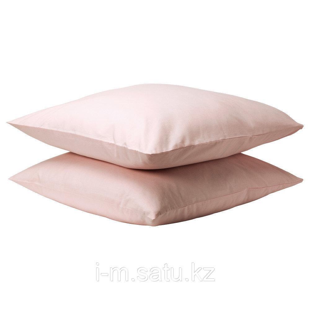 ДВАЛА Наволочка, светло-розовый