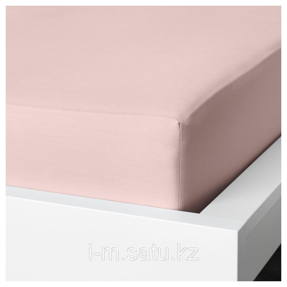 ДВАЛА Простыня натяжная, светло-розовый 90*200