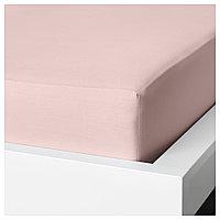 ДВАЛА Простыня натяжная, светло-розовый 90*200, фото 1