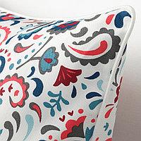 КРАТТЕН Чехол на подушку, белый, разноцветный, 50x50 см, фото 1