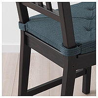 ЮСТИНА Подушка на стул, темно-синий, в полоску, фото 1
