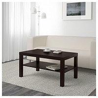ЛАКК Журнальный стол, черно-коричневый