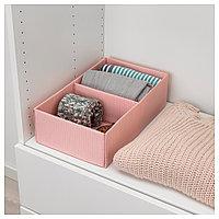 СТУК Ящик с отделениями, розовый