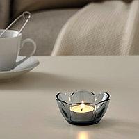 ВАНЛИГЕН Подсвечник для греющей свечи, серый, 4 см