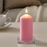 ДАГЛИГЕН Неароматическая свеча формовая, светло-розовый, 14 см