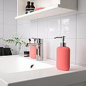 ЭКОЛЬН Дозатор для жидкого мыла, светло-красный