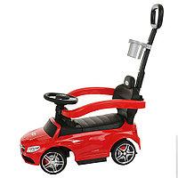 Машина-каталка Pituso Mercedes-Bens c родительской ручкой Красный