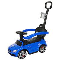 Машина-каталка Pituso Mercedes-Bens c родительской ручкой Синий