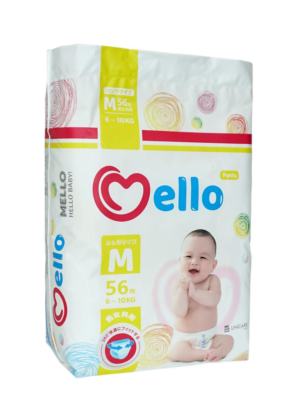 Трусики Mello размера М (6-10кг) 56 штук