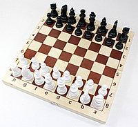 Игра настольная «Шахматы и шашки» пластмассовые (поле 29х29 см), фото 1