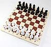 Игра настольная «Шахматы» пластмассовые (деревянное поле 29х29 см)
