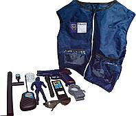 HSY-165 Delux Police полицейский набор с жилетом,пистолет со звуком в сумочке качест. 30*24см, фото 1