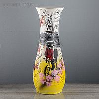 """Ваза напольная """"Осень"""", Париж, роспись, разноцветная, 60 см, микс, керамика"""