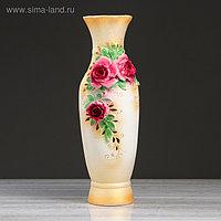"""Ваза напольная """"Илона"""" лепка, роза, 63 см , керамика"""