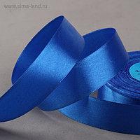 Лента атласная, 25 мм × 33 ± 2 м, цвет синий №040