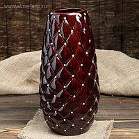 """Ваза настольная """"Ананас"""", коричневая, керамика, 31 см,"""