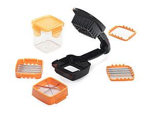 """Овощерезка с контейнером и насадками """"Секунда"""" оранжевая, фото 2"""