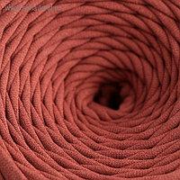 Пряжа трикотажная широкая 50м/170гр, ширина нити 7-9 мм (250 коричневый)