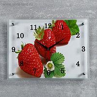 """Часы настенные, серия: Кухня, """"Клубника"""", 30х40 см, микс"""