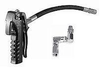 Пистолет для раздачи консистентной смазки с Z-образным шарниром и резиновым шлангом