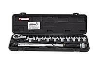 Динамометрический ключ 40-210 Нм. с набором рожковых насадок 13-30, 4673, Hans