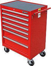 Тележка инструментальная с 7 ящиками, красного цвета