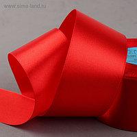 Лента атласная, 50 мм × 33 ± 2 м, цвет красный №026