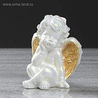 """Статуэтка """"Пупс"""", цвет перламутровый, золотистое напыление, 11.5 см"""
