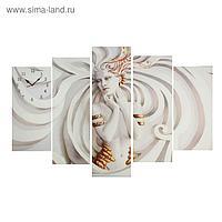 Часы настенные модульные «Скульптура девушки», 80 × 140 см