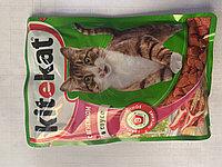 Kitekat ягненок в соусе Китикэт консервированный корм для кошек, 85гр