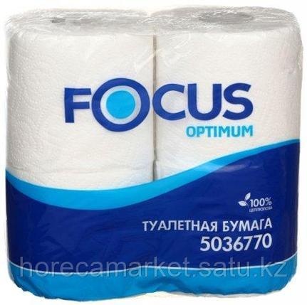 Туалетная бумага Focus Optimum, 2 сл. 4рул, фото 2