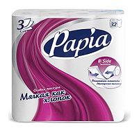 Туалетная бумага 3-сл. Papia 32рул х 3пач