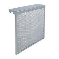 Экран на чугунный радиатор 'Лидер', 490х610х150 мм, 5 секций, металлический, цвет металлик