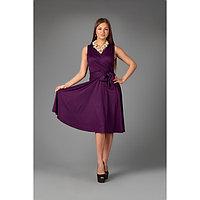 Платье женское, цвет баклажановый, размер 50