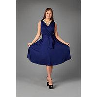 Платье женское, цвет тёмно-синий микс, размер 48
