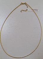 Цепь- колье из серебра. Вес: 5 гр, длина: 42+5 см, ширина: 1,5 мм, покрытие желтая позолота, застежк