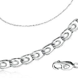 Цепь из серебра, плетение Love . Вес: 2.44 гр, длина: 40 см, ширина: 3 мм, покрытие родий, застежка