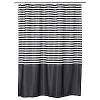 Штора для ванной ВАДШЁН темно-серый 180x200 см ИКЕА IKEA