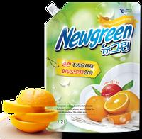 "NEW GREEN DISHWASHING DETERGENT – Гель для мытья посуды ""Апельсин"" 1.2кг."