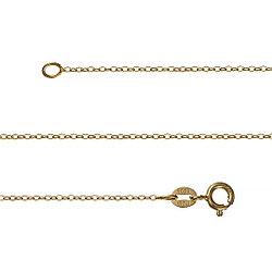 Позолоченная цепь из серебра плетение «Якорное». Вес: 0,9 гр, длина: 40 см, застежка шпрингельная.