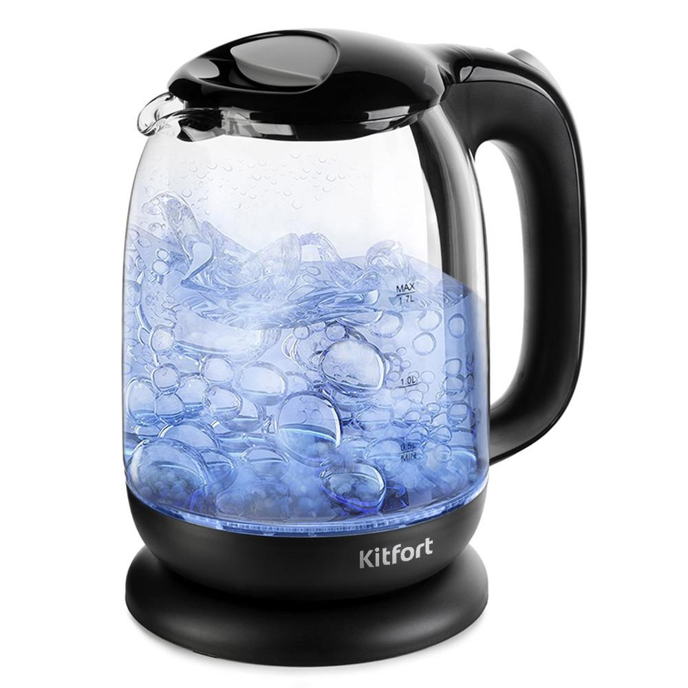 Электрический чайник Kitfort KT-625-5 черно-серый